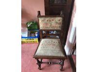 2 Edwardian chairs