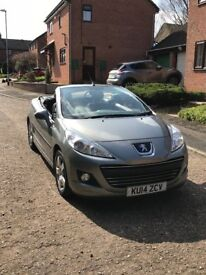 Peugeot 206 cc in grey. 2014. One careful lady owner from new. MOT until May 2019.