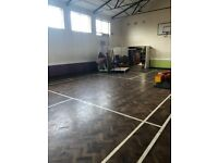 hall hire/bouncy castle/football fun pakages
