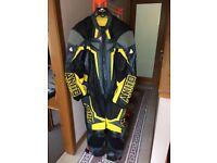 1 piece motorbike leather suit (new)