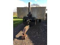 Approx 10 tonne steel/aluminium tipping trailer