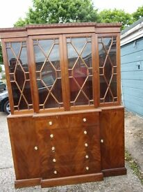 HAND MADE MAHOGANY DISPLAY CABINET