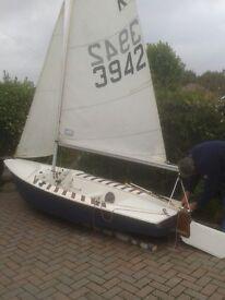 Cadet sailing dinghy