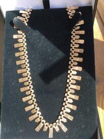 0de0bc270 9 carat gold Vintage cleopatra style necklace selling on eBay I have 100%  positive feedback