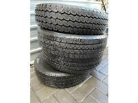 185 R14C tyres x4 good tread £40 the lot