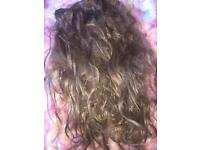 Hair extensions light golden brown