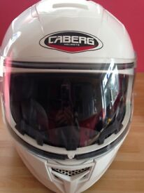 CABERG WHITE HELMET SIZE SMALL EXCELLENT CONDITION COST £120.00