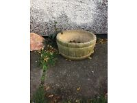 3large heavy stone Planters and edging stones