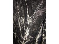 Black crushed velvet jacket size 24