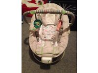 Baby changing unit and baby bouncer