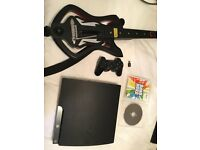 PS3 in great condition with band hero game and guitar. One controller