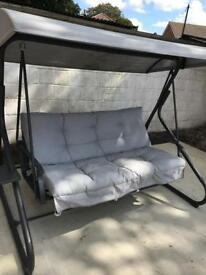Grey swing chair and winter cover - Used