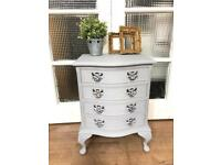 Lovely vintage bedside table Free Delivery Ldn Shabby Chic light grey
