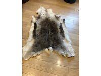 Scandinavian reindeer hide-rug-skin