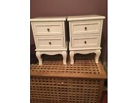 Pair of Beautiful white gloss bedside tables