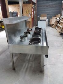 Chinese cooker 7 burner gas fully reconditioned