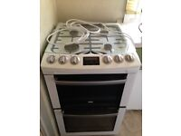 Zanussi Free Standing White Gas Double Oven Cooker