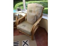 Conservatory Set, 2 Seat Sofa, 2 Chairs, Glass Side Table and Footstool
