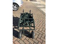 Fishing Barrow unwanted gift as new, Twin wheel barrow good capacity very stable very strong