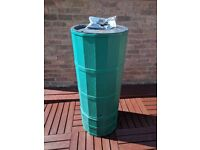 Quality 220 litre Water Butt and stand with fittings MCLBUTT220GRN BRAND NEW