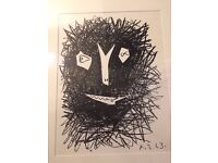 Pablo Picasso Satyr 2, 1964 Original Lithograph Printed By Mourlot, Framed