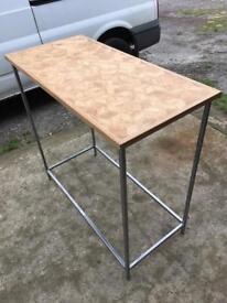 Hand made oak side table