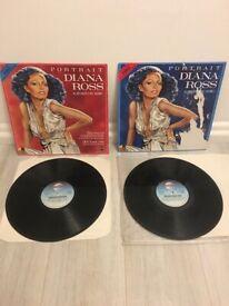 Diana Ross Portrait 1 & 2 all her greatest Hits, original ,vinyl double LP Album