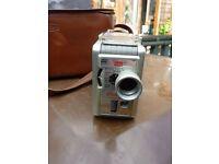 Vintage old collectible Rowi camera bag and Kodak 8mm Movie Camera