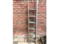 GONE- Wooden extending ladders