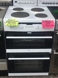 AMICA 60CM BRAND NEW SOLID TOP ELECTRIC COOKER