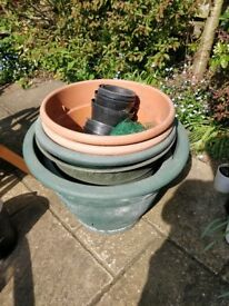 Selection of Large and Small Garden Pots