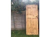 Solid pine interior door