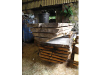 Oak and Sycamore timber slabs. 3 years air-dried.