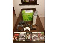 Xbox 360 Arcade 256MB (White) + 5 games