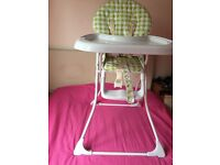 Baby Feeding High Chair Seat Foldable Child Infant By Mother Care