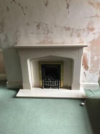 Composite fireplace and gas fire from Victorian end terrace house