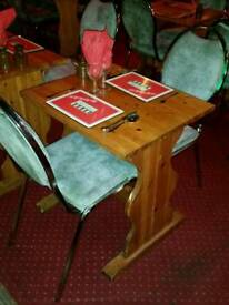 Job lot 30 tables and chairs from an Italian restaurant