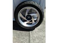 Honda Goldwing rear wheel and tyre