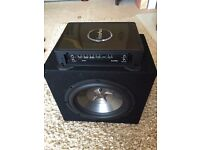 "10"" Clarion Subwoofer & In Phase 200W Amplifier"