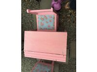 Childs refurbished desk and chair