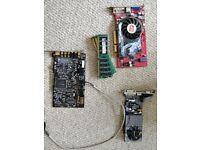 ATI Radeon and Nvidia graphics card sound laster audigy card