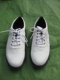 Pair of White Stuburt Comfort XP Golf Shoes - As New UK Size 7.5, Euro Size 41