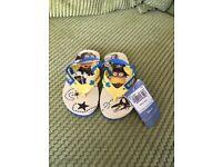 Children's minion flip flops