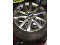 BMW wheels 4x alloy wheels and tyres 16 inch