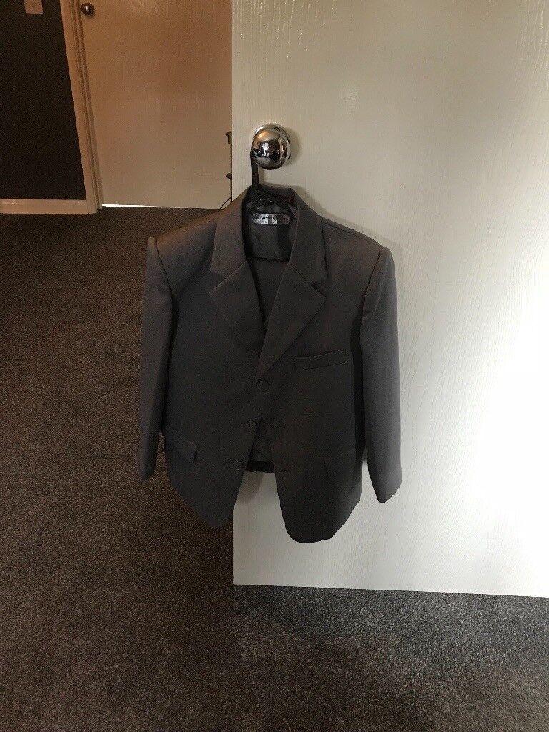Boys size 10 grey 3 piece suit