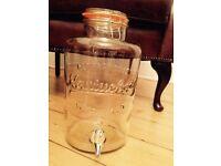 Large glass drink dispenser 8L