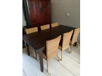 Dining table and 6 chairs IKEA in good condition
