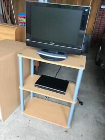 Logic 19 inch LCD TV and Toshiba DVD with stand