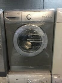 nice silver beko washing machine 6kg 1000 spin in excellent condition in full working order