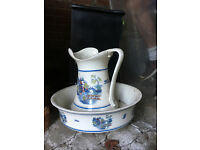 Vintage jug wash and basin